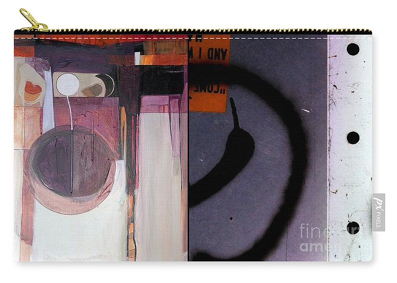 Abstract Photography Carry-all Pouch featuring the painting p HOTography 150 by Marlene Burns
