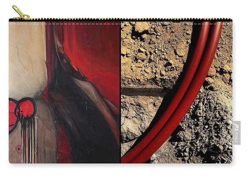 Diptych Carry-all Pouch featuring the painting p HOTography 87 by Marlene Burns
