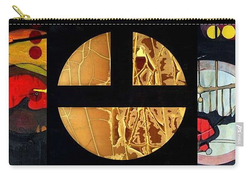 Marlene Burns Carry-all Pouch featuring the painting p HOTography 91 by Marlene Burns