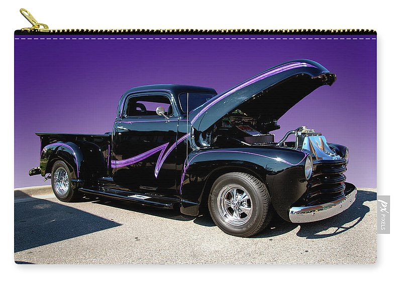 Purple Carry-all Pouch featuring the photograph P P - Purple Pickup by Paul Cannon
