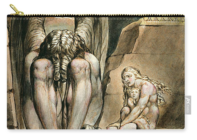 Chain Carry-all Pouch featuring the drawing P.127-1950.pt1 Albions Angel by William Blake