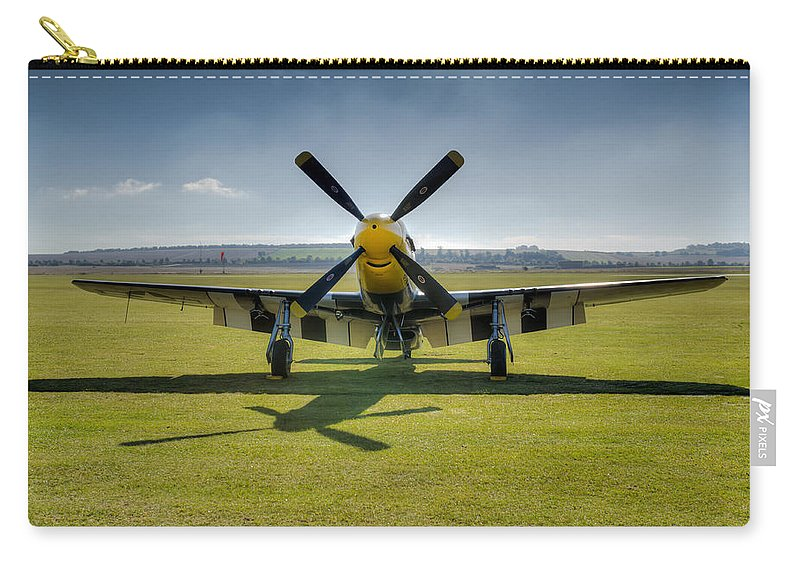 P-51 Carry-all Pouch featuring the photograph P51d Mustang Hdr by Gary Eason