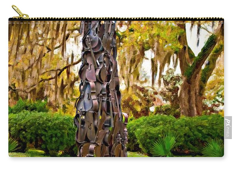 New Orleans Carry-all Pouch featuring the photograph Pablo Casals' Oblisk Oil by Steve Harrington