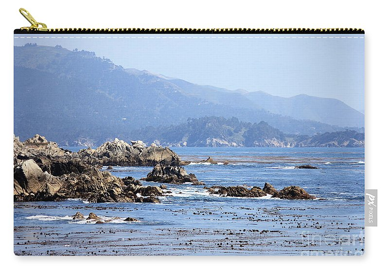 Ocean Carry-all Pouch featuring the photograph Pacific Blues by Carol Groenen