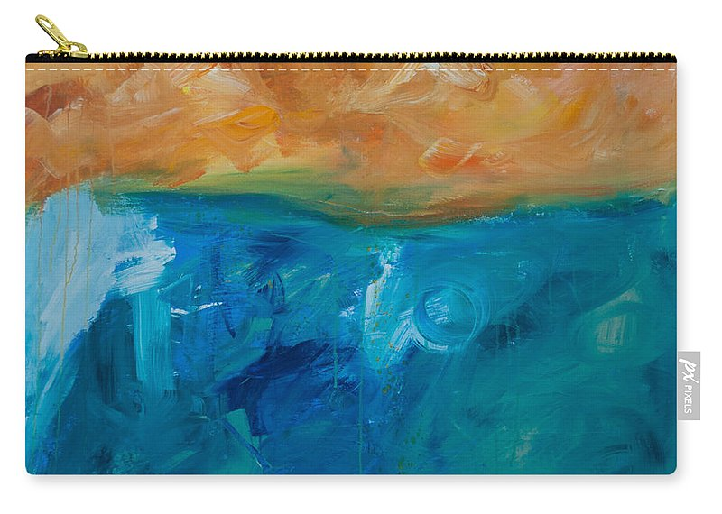 Pacific Carry-all Pouch featuring the painting Pacific Isle Sunset by Paulette B Wright