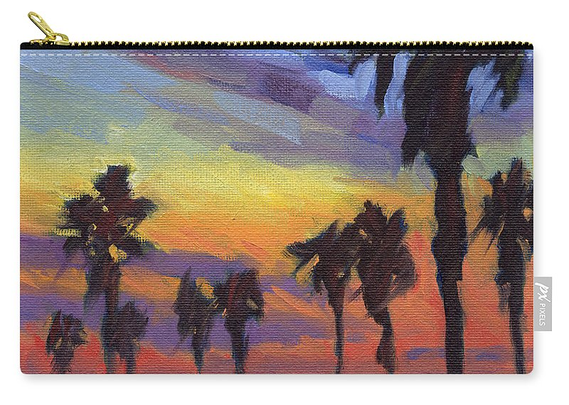 Sunset Carry-all Pouch featuring the painting Pacific Sunset 2 by Konnie Kim