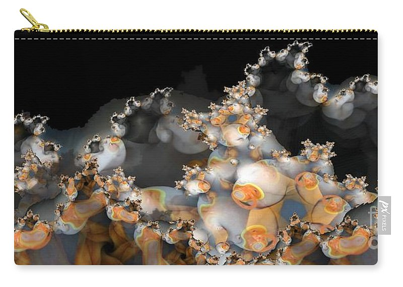 Abstract Carry-all Pouch featuring the digital art Pacified by Ron Bissett