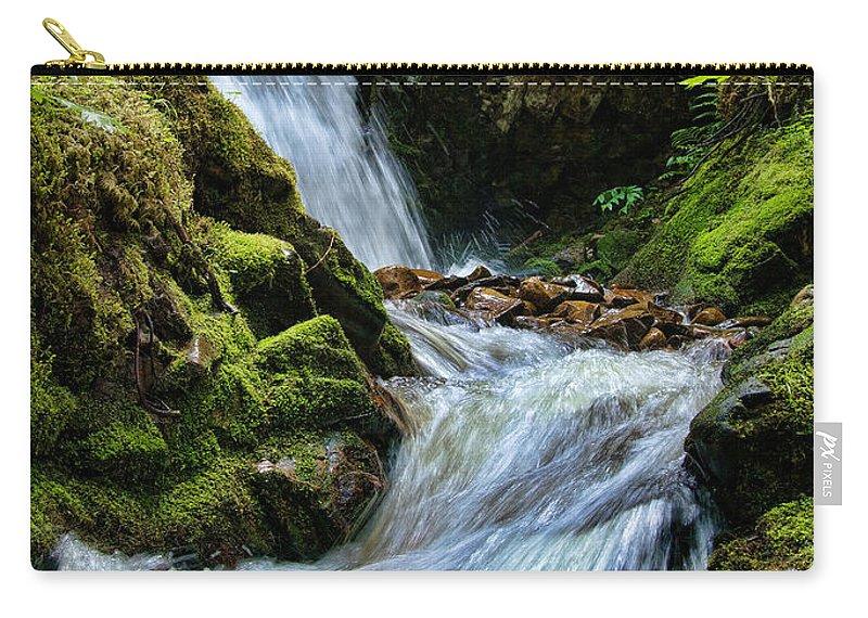 Moss Carry-all Pouch featuring the photograph Packer Falls Vert 1 by Paul DeRocker
