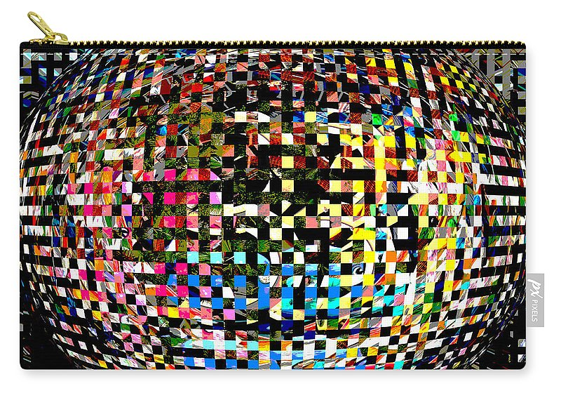Abstract Carry-all Pouch featuring the photograph Pacman Gone Awry by Marian Bell