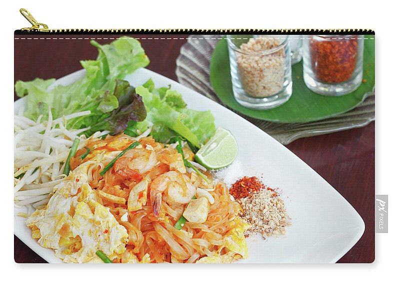 Prawn Carry-all Pouch featuring the photograph Pad Thai by Tommyix