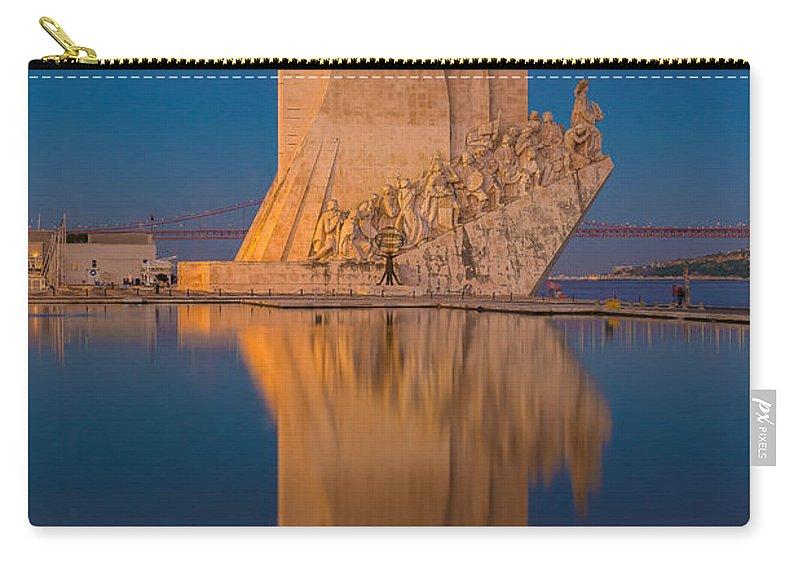 Padrao Dos Descobrimentos Carry-all Pouch featuring the photograph Padrao Dos Descobrimentos by Mark Robert Rogers