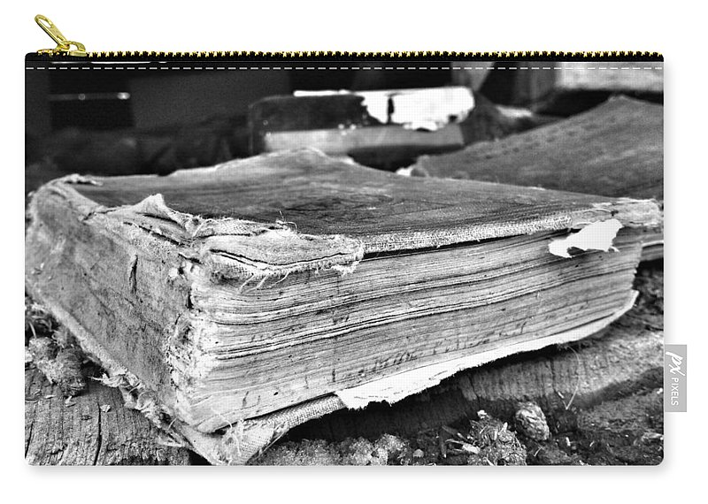 Books Carry-all Pouch featuring the photograph Pages Of Presence by The Artist Project