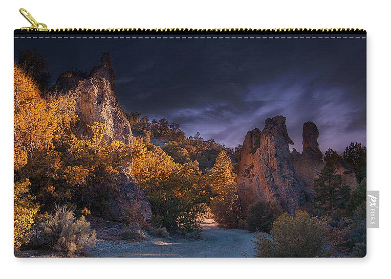 Pahrump Carry-all Pouch featuring the photograph Pahrump - Road To Wheeler Peak by Gunter Nezhoda