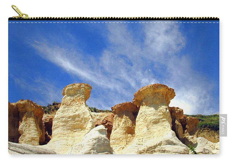 Rock-formations Carry-all Pouch featuring the photograph Paint Mines Beauty Three by Joyce Dickens
