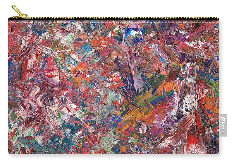 Abstract Carry-all Pouch featuring the painting Paint number 50 by James W Johnson