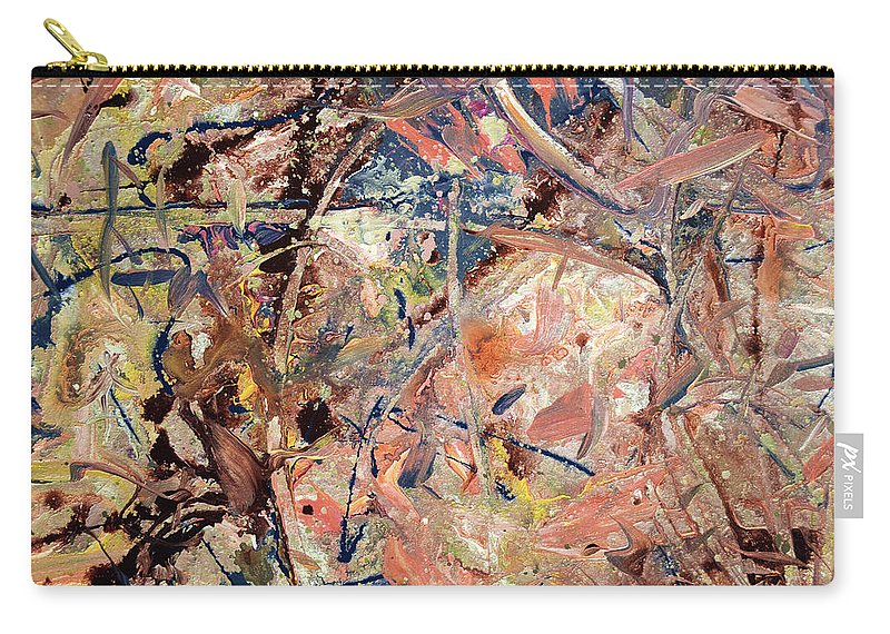 Abstract Carry-all Pouch featuring the painting Paint number 53 by James W Johnson