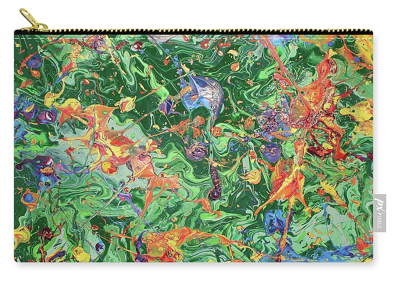 Acrylic Carry-all Pouch featuring the painting Paint Number Twenty Three by Ric Bascobert
