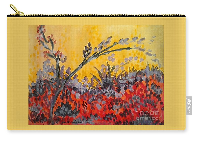 Paintbrush Astray Carry-all Pouch featuring the painting Paintbrush Astray by Holly Carmichael