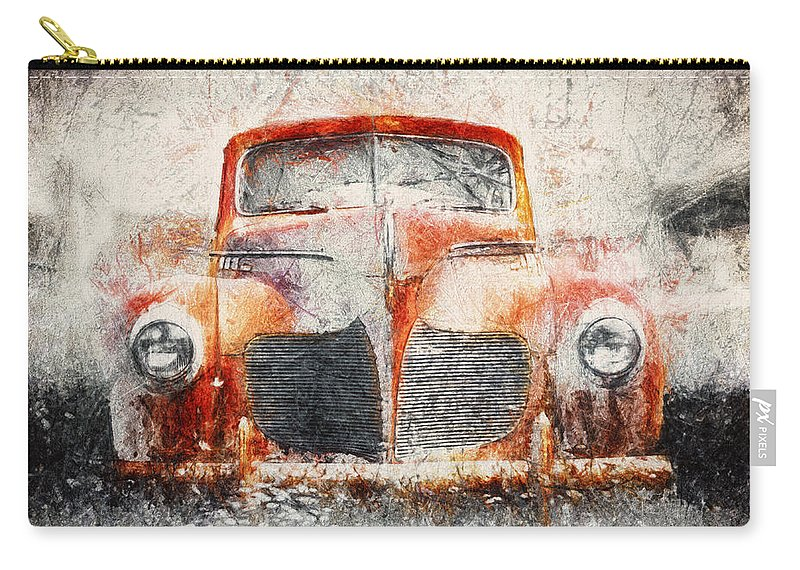 Desoto Carry-all Pouch featuring the photograph Painted 1940 Desoto Deluxe by Scott Norris