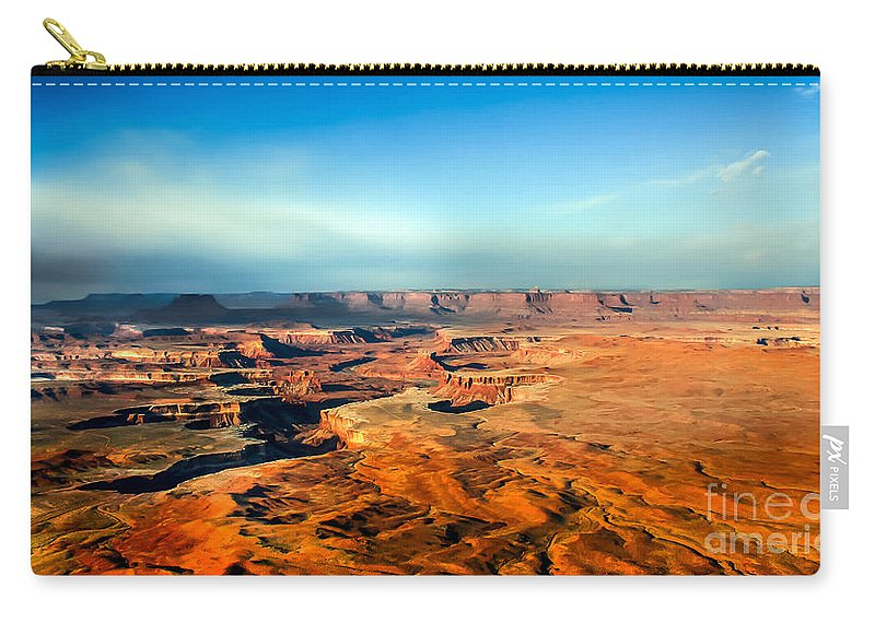 Canyonland Carry-all Pouch featuring the photograph Painted Canyonland by Robert Bales