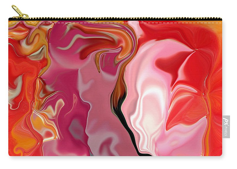 Face Art Carry-all Pouch featuring the digital art Painted Face's by Linda Sannuti