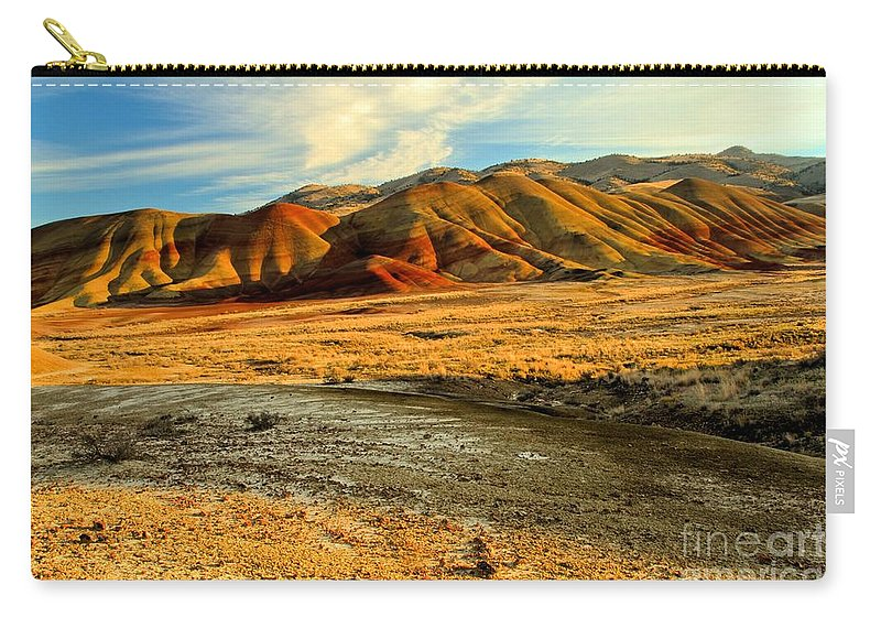Painted Hills Carry-all Pouch featuring the photograph Painted Hills Sunset by Adam Jewell
