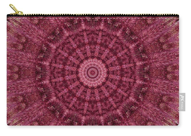 Kaleidoscope Carry-all Pouch featuring the digital art Painted Kaleidoscope 12 by Rhonda Barrett