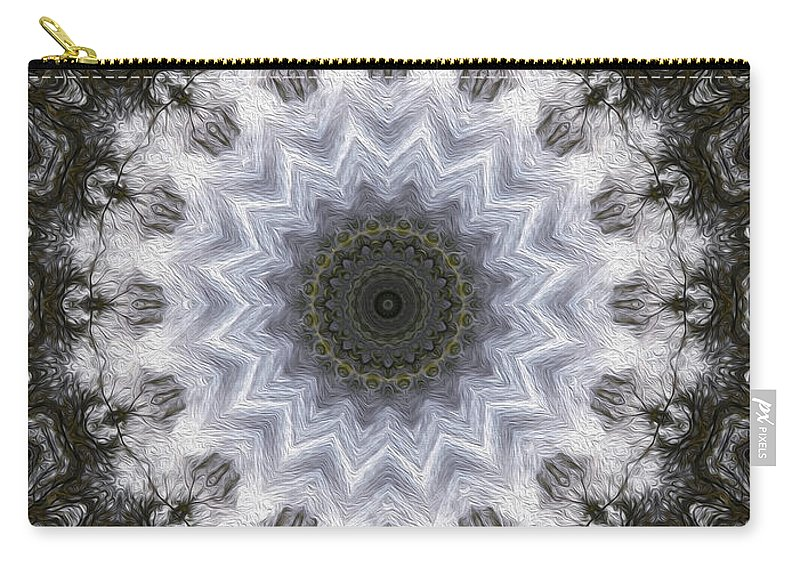 Painted Carry-all Pouch featuring the digital art Painted Kaleidoscope 16 by Rhonda Barrett
