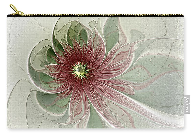 Digital Art Carry-all Pouch featuring the digital art Painted Lady II by Amanda Moore
