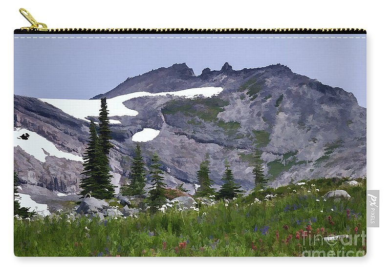 Landscapes Carry-all Pouch featuring the photograph Painted Landscape by Sharon Seaward