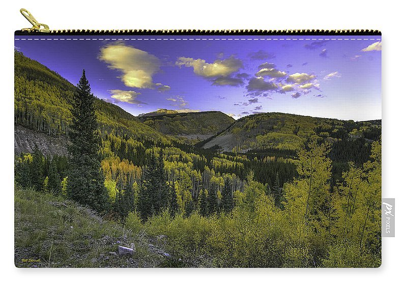 Landscape Carry-all Pouch featuring the photograph Painted Mountains by Bill Sherrell