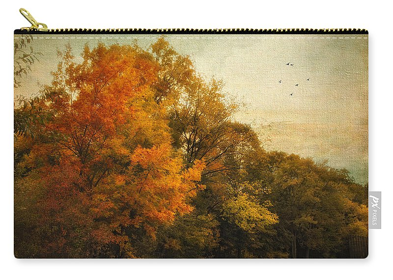 Nature Carry-all Pouch featuring the photograph Painted Path by Jessica Jenney