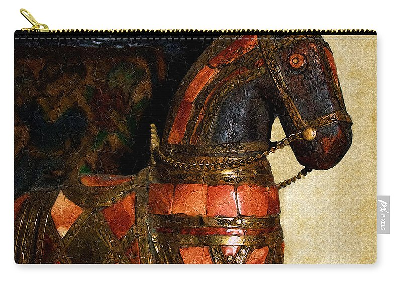 Animal Carry-all Pouch featuring the painting Painted Pony by RC DeWinter