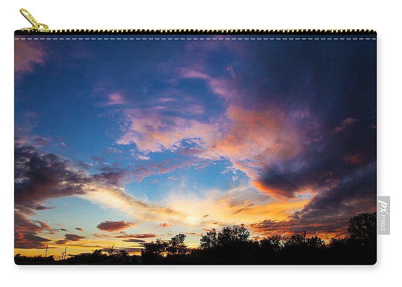 Sunset Carry-all Pouch featuring the photograph Painter's Sunset by Toni Hopper