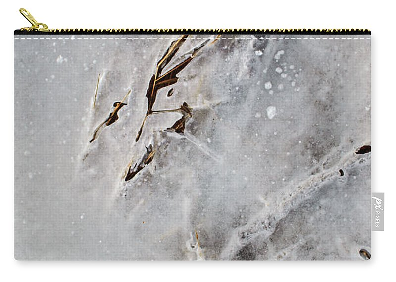 Natural Abstract Carry-all Pouch featuring the photograph Painting On Ice by Susan Capuano