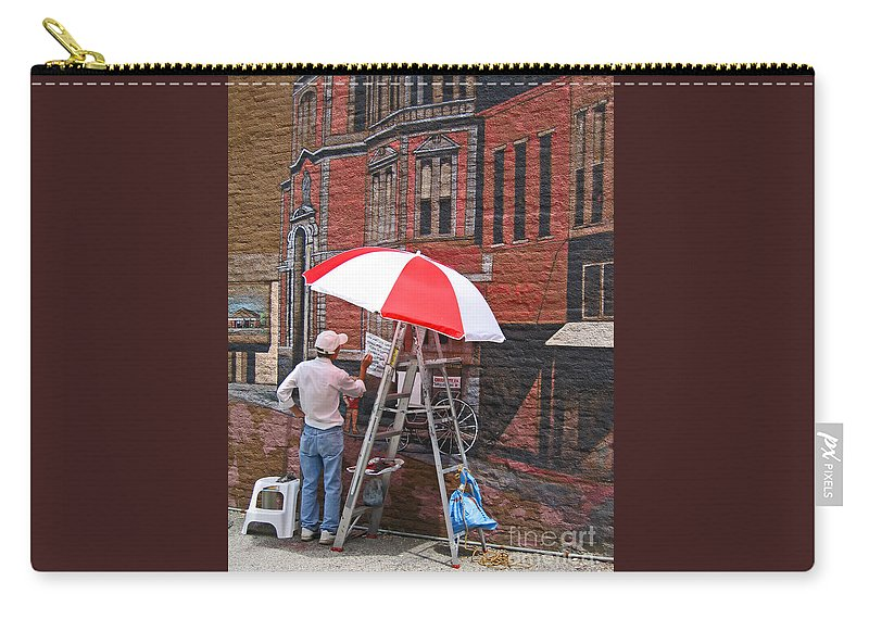 Artist Carry-all Pouch featuring the photograph Painting The Past by Ann Horn