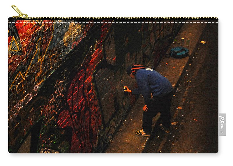 Painting Carry-all Pouch featuring the photograph Painting Walls by Gina Dsgn