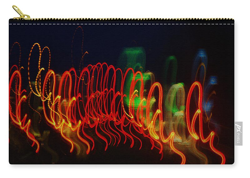 Lights Carry-all Pouch featuring the painting Painting With Light 5 by Jennifer Muller