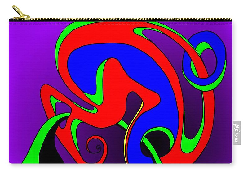 Paar Carry-all Pouch featuring the digital art Pair 2014 by Helmut Rottler