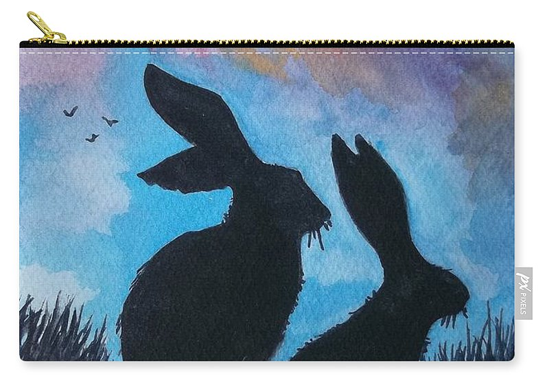 Wildlife Carry-all Pouch featuring the painting Pair Of Jacks by Don Hand