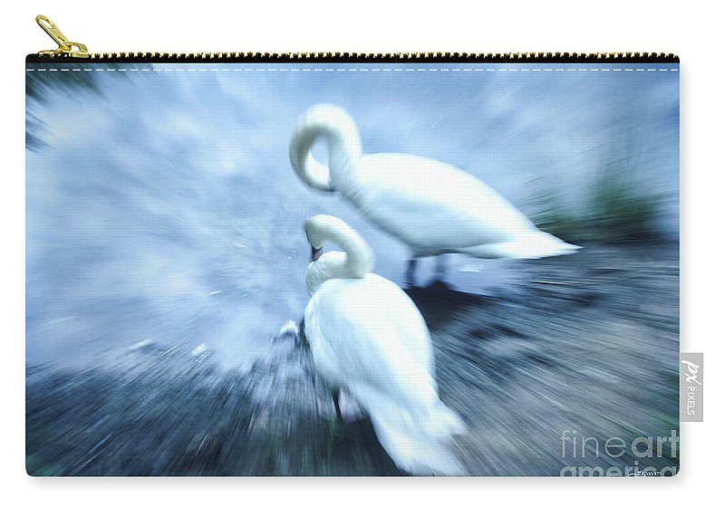 Photo Carry-all Pouch featuring the photograph Pair Of Swans by Jutta Maria Pusl
