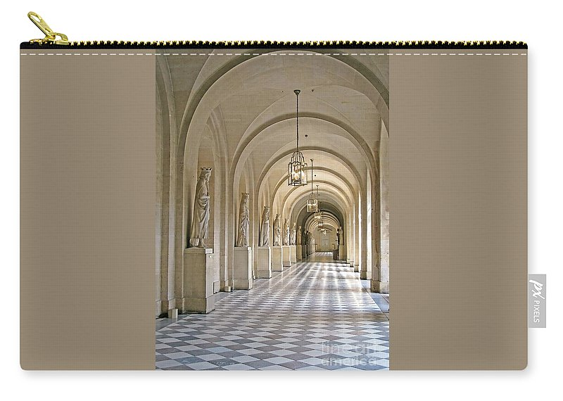 Versailles Carry-all Pouch featuring the photograph Palace Corridor by Ann Horn