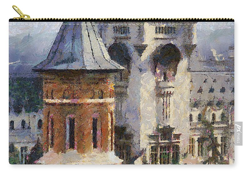 Chapel Carry-all Pouch featuring the painting Palace Of Culture by Jeffrey Kolker