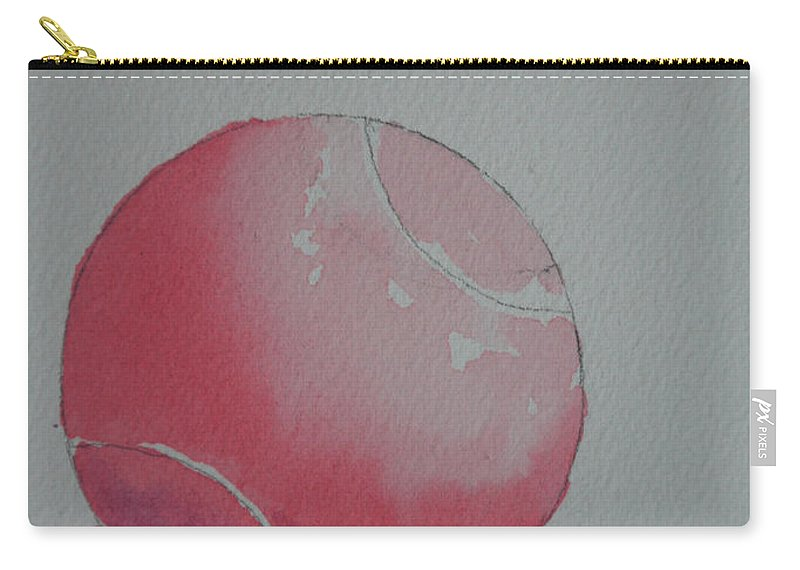 Tennis Ball Carry-all Pouch featuring the painting Pale Pink by Susan Herber