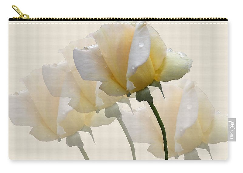 Rose Carry-all Pouch featuring the photograph Pale Yellow by Rosalie Scanlon