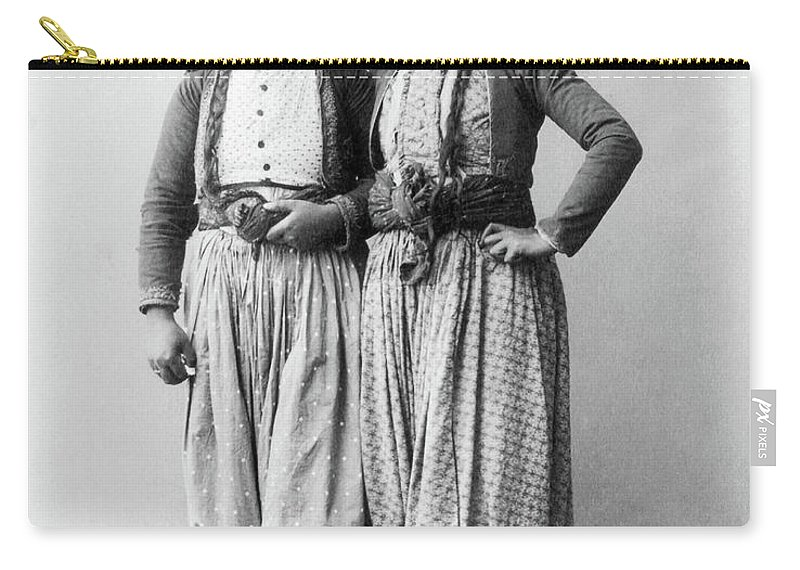 1893 Carry-all Pouch featuring the photograph Palestine Gypsies, 1893 by Granger