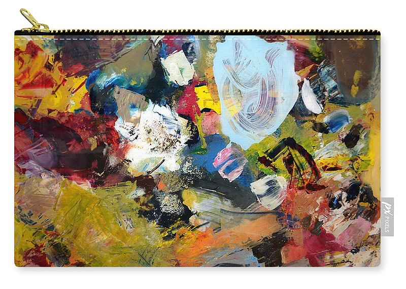 Rustic Carry-all Pouch featuring the painting Palette Abstract by Michelle Calkins
