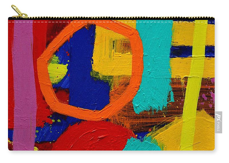 Abstract Carry-all Pouch featuring the painting Palimpsest X by John Nolan