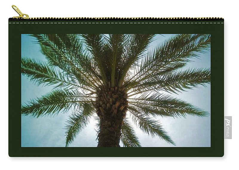 Palm Carry-all Pouch featuring the photograph Palm Light by Deborah Lacoste