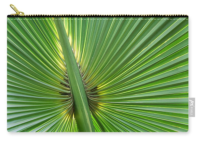 Palms Carry-all Pouch featuring the photograph Palm Love by Roselynne Broussard